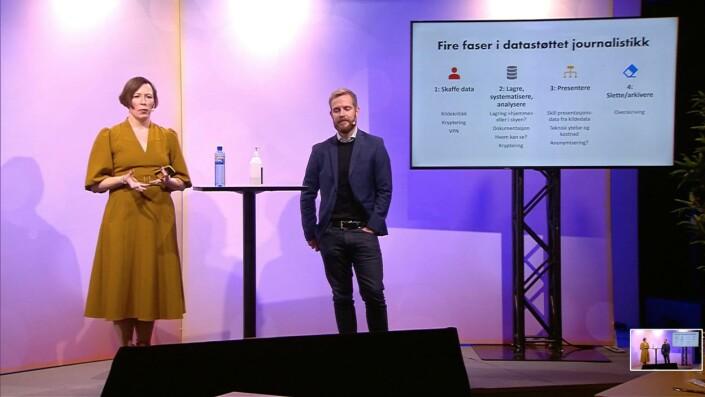 Volan og Christer S. Johnsen på høstmøtet i Trondheim.