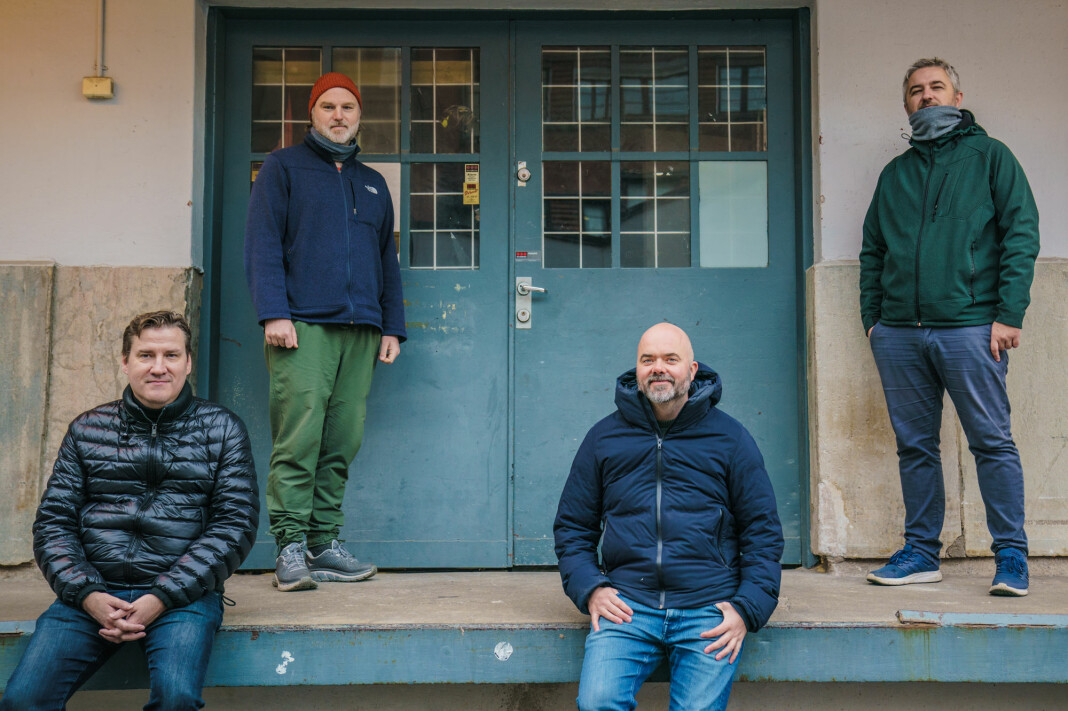 Tor-Kristian Karlsen, Frode Lia, Thomas Aune og Aleksander Schau starter ny nett-TV-kanal for fotballinteresserte.