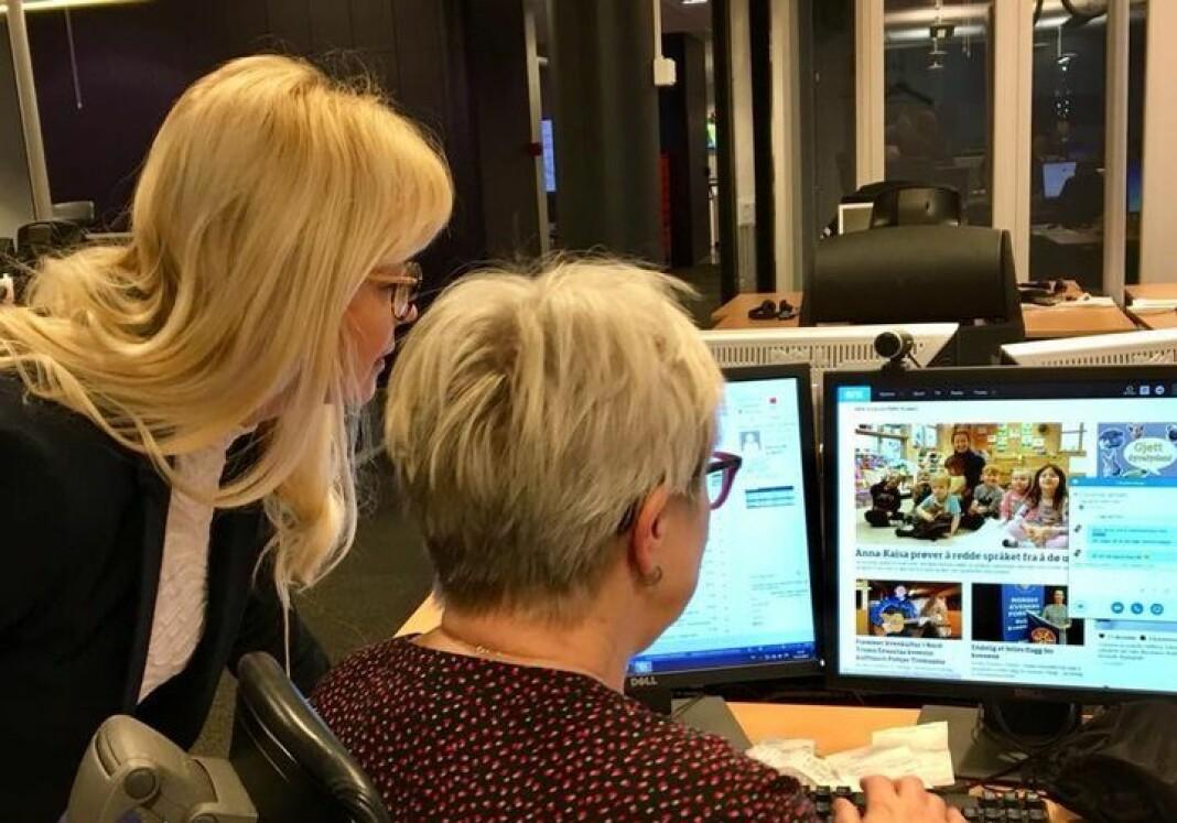 NRK ønsker å styrke tilbudet for den kvenske minoriteten i Norge. Laila Lanes og Anne Mari Rahkonen Berg utgjør i dag redaksjonen.