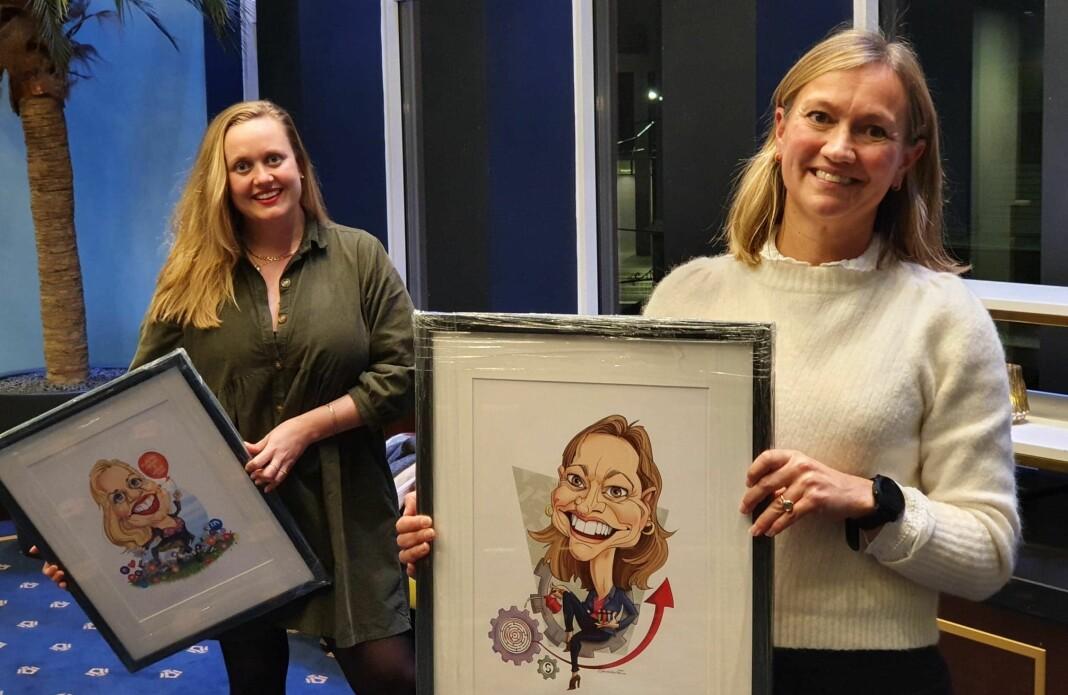 Fjorårets vinnere, fra venstre Julie Lundgren og Siv Juvik Tveitnes.