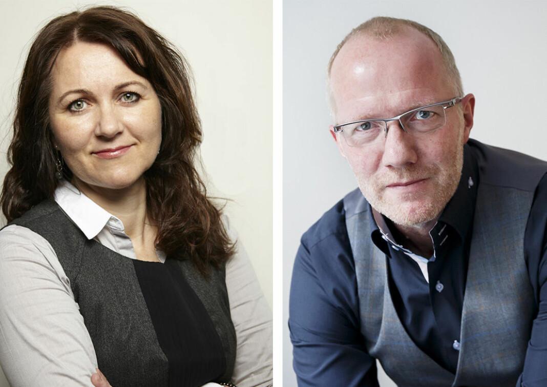 Reidun K. Nybø og Arne Jensen fra Norsk Redaktørforening.