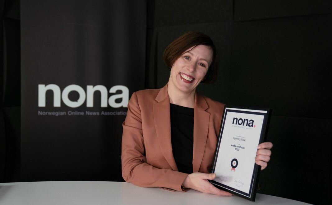 Tidligere Nona-leder Ingeborg Volan ble onsdag kåret til Årets netthode.