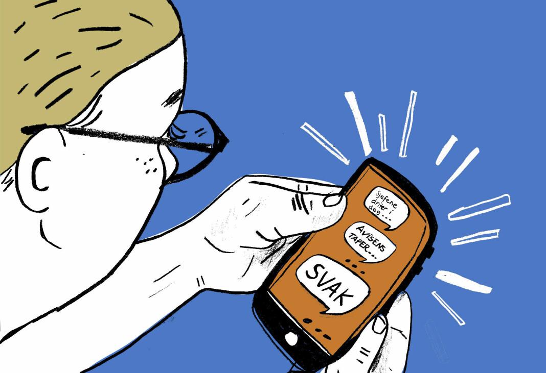 Over en lang periode mottok en DN-medarbeider trakasserende sms-er.