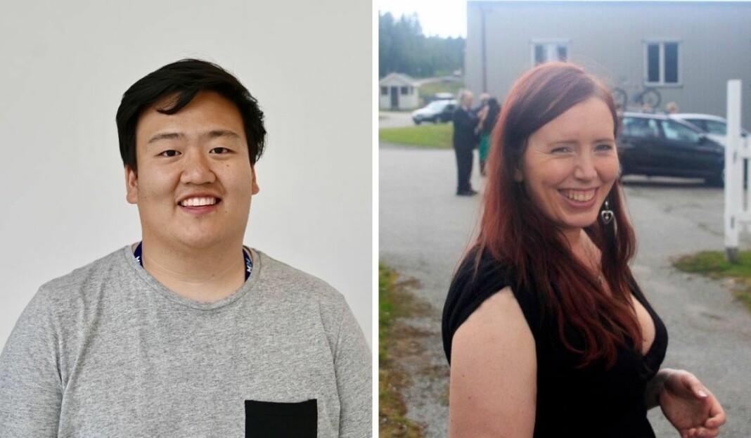 Even Hye Tytlandsvik Barka (t.v.) og Torill Henriksen er ansatt som journalister i Medier24.