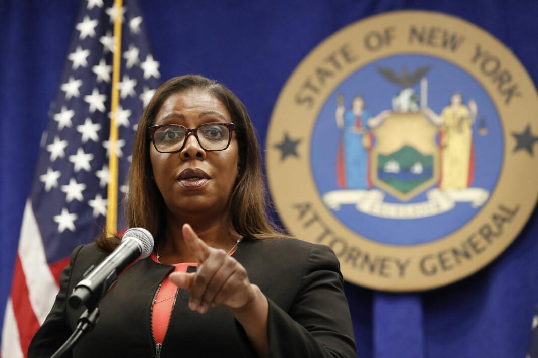 New Yorks justisminister Letitia James, her under en pressekonferanse i august. James presenterte onsdag et søksmål mot Facebook fremmet av 48 amerikanske delstater i fellesskap.