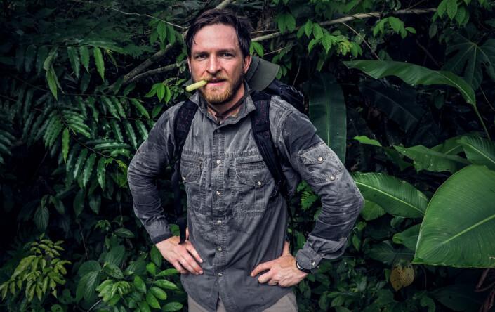 Morten Risberg i Amazonas under en humanitær forskningsekspedisjon i 2017. Møtet med urfolket ticunaene inspirerte ham til å skrive sin første reportasje.