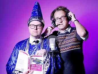 Ole Petter Baugerød Stokke (t.h.) og Jørgen Jacobsen utgjør kode24-timen.
