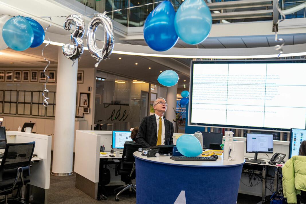 Sjefredaktør Lars Helle i Stavanger Aftenblad feiret at avisa hadde fått 30.000 digitale abonnenter i november.