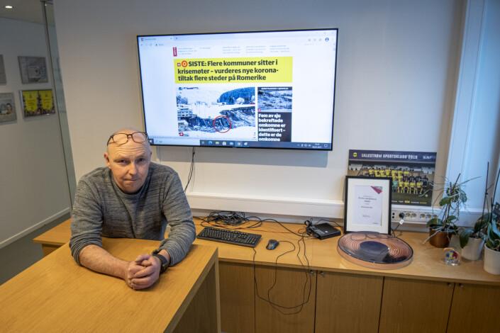 Konstituert ansvarlig redaktør i Romerikes Blad, Lars Lier, har ikke hatt rolige dager etter at det store leireskredet rammet Gjerdrum på tampen av 2020.