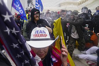 Amerikanske medier gir Donald Trump ansvaret for voldelig kaos i Washington