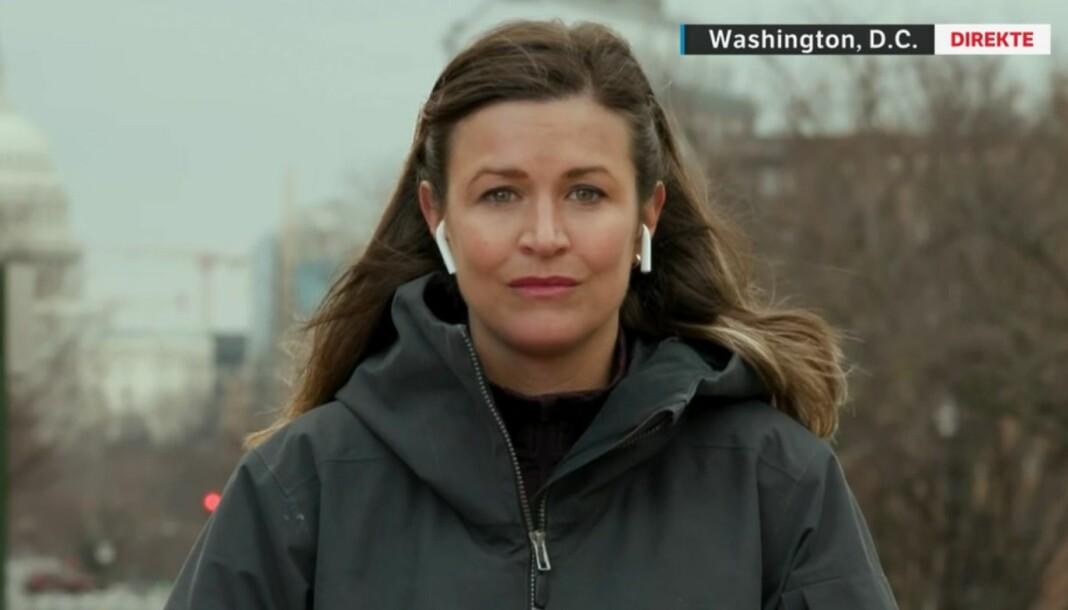 Veronica Westhrin rapporterte fra Washington D.C. den dramatiske onsdagskvelden.