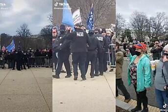 Faktisk.no: Journalisten som filmet avviser at politiet bare åpnet gjerdene til Kongressen
