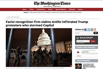Feil i Washington Times ble gjengitt av Resett