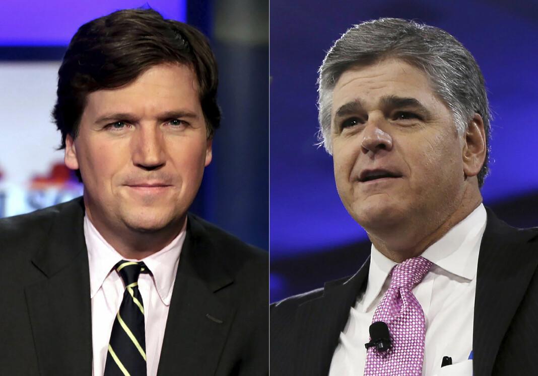 Fox News-profilene Sean Hannity har 7,6 millioner følgere på Parler, mens hans kollega Tucker Carlson har 4,4 millioner.