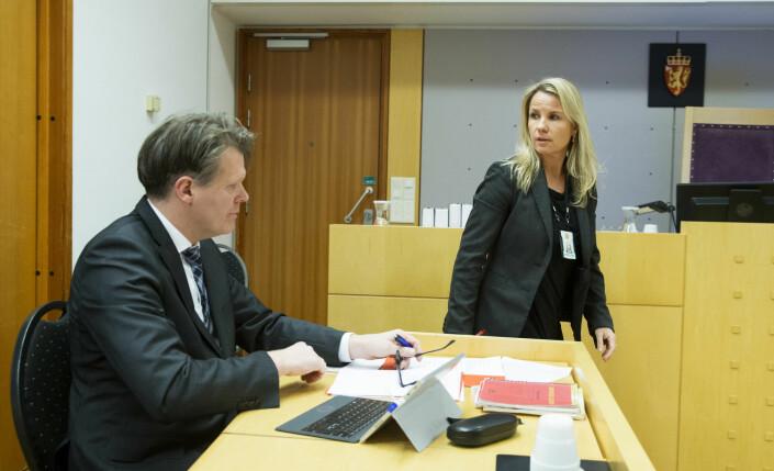 Påtaleleder Tina Bjarkø Helleland mener Indie Film ikke skal få utlevert nødsamtalene. Her fra Oslo tingrett i en annen sak i 2016.