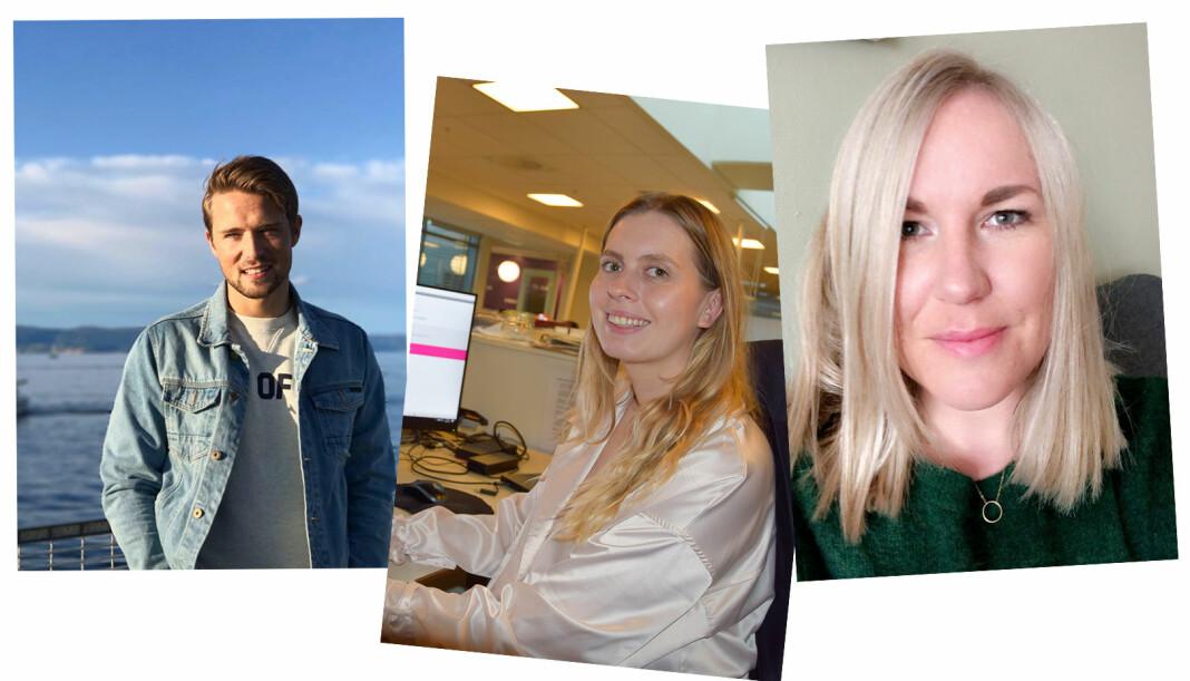 Eveline Røsholt-Hanssen (28), Alexander Sætre (27) og Anita Bakk Henriksen (36) er ansatt som nye frontsjefer i Avisa Oslo.