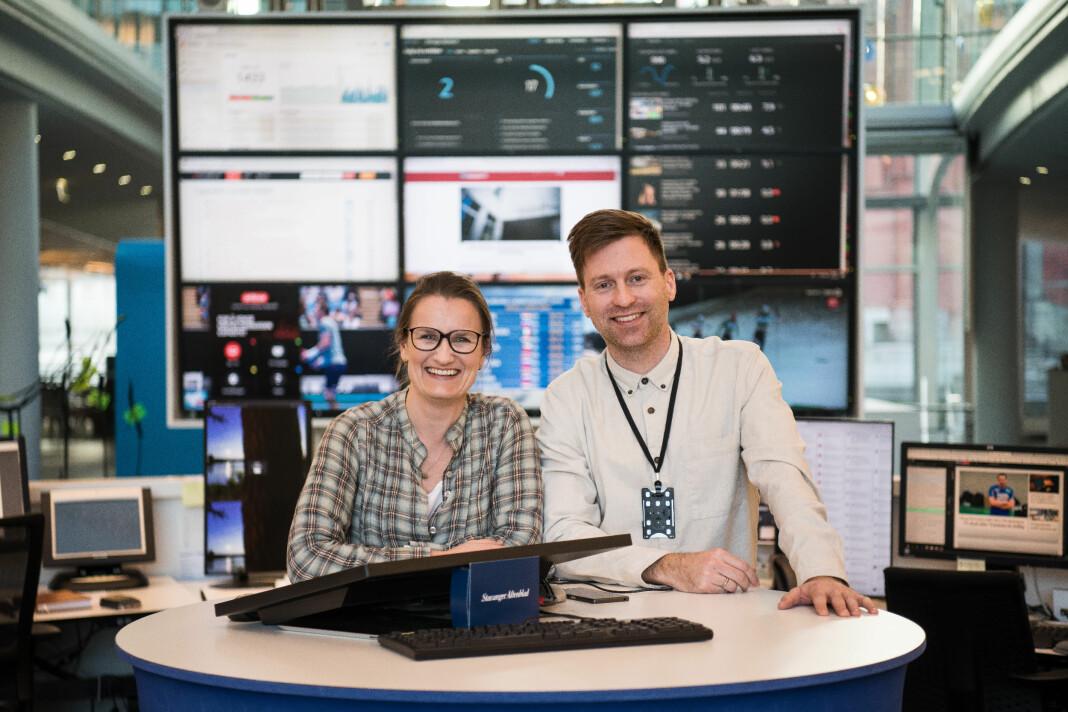 Journalist Inga Sverdrup og Rolf Fryland i Stavanger Aftenblad.