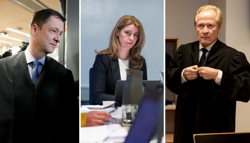 Advokat John Christian Elden, Dagbladet-redaktør Alexandra Beverfjord og advokat Per Danielsen.