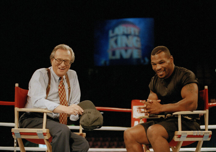 Larry King intervjuet bokseren Mike Tyson i 1995.