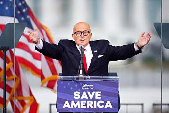 Giuliani saksøkes for milliarder etter uttalelser i konservative medier