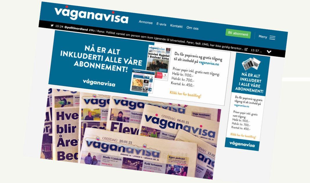 Våganavisa ble grunnlagt i 2006 og kåret til Årets lokalavis i 2009.