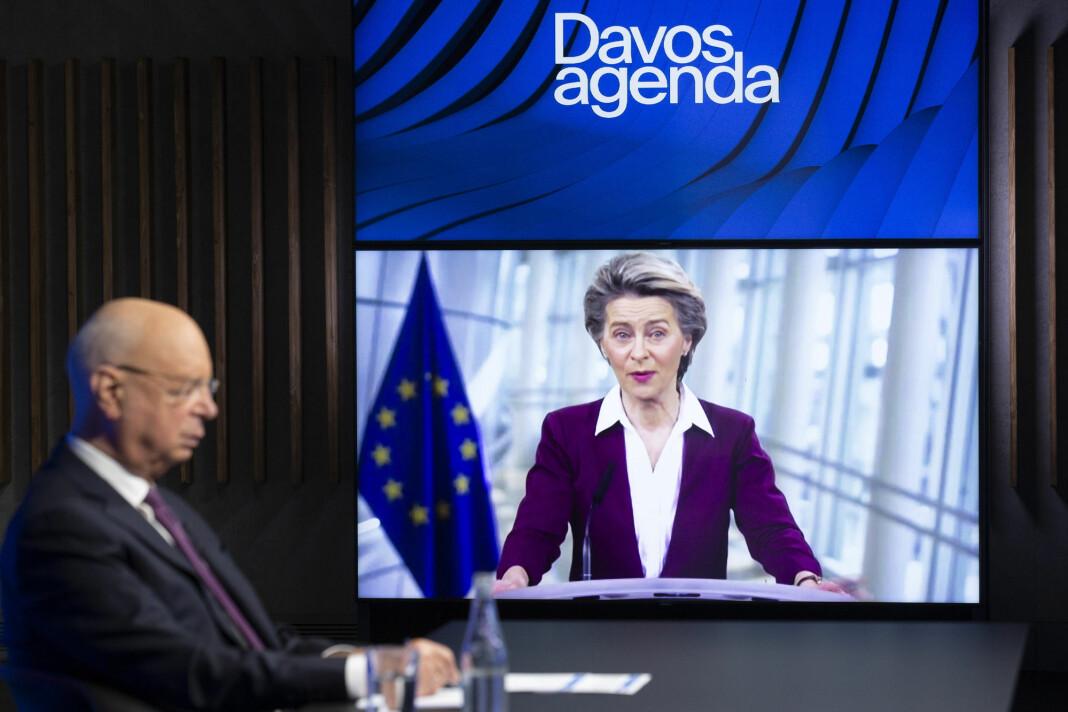 Ursula von der Leyen talte til WEF tirsdag.