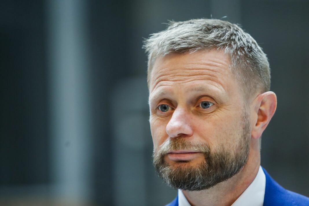 Bent Høies tale til ungdommen 27. april engasjerte mest i sosiale medier i fjor. Her fra pressekonferansen han holdt den dagen.