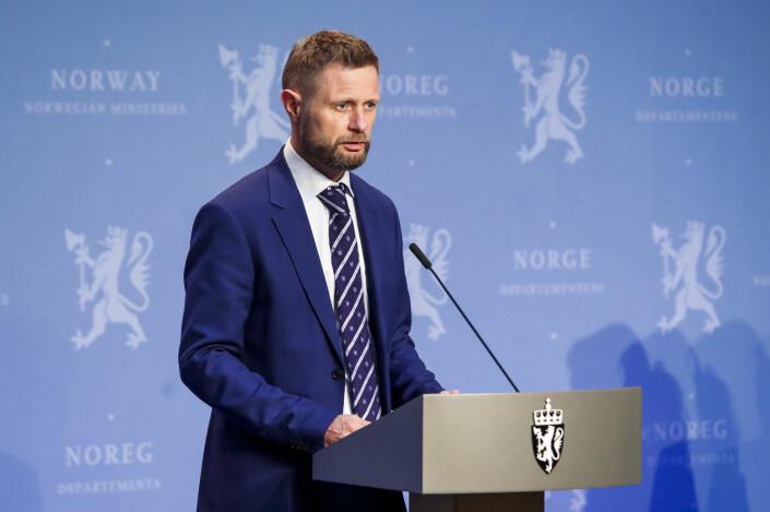 Medlemmer av regjeringa hadde daglige pressekonferanser om koronasituasjonen i vår. Det var her Høie holdt sin tale som gikk viralt.