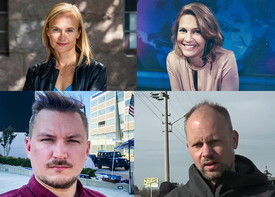 NRKs nye korrespondenter: Heidi Taksdal Skjeseth, Gry Blekastad Almaas, Lars Os og Philip Lote.