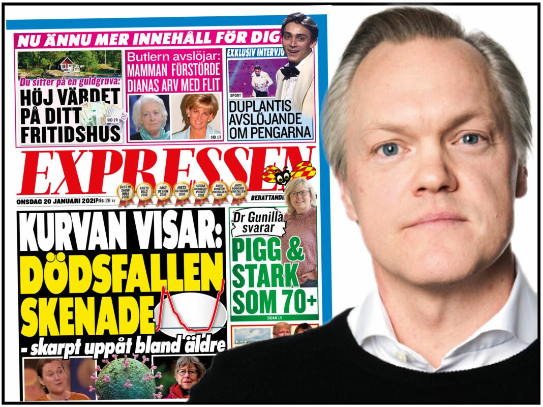 Sjefredaktør Klas Granström i Expressen skal nå distribuere sin avis tidligere til leserne.