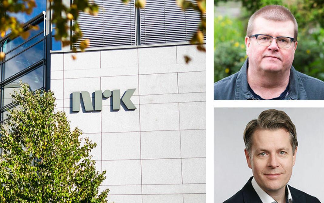 Både Olav Hypher (NRK) og Rolf Johansen (NRKJ) er fornøyde med årets oppgjør i NRK.