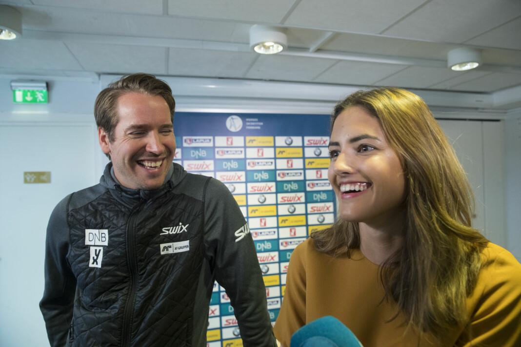 Samantha Skogrand går til NRK-sporten, og blir kollega med forloveden Emil Hegle Svendsen, som jobber med skiskyting.