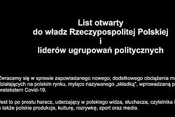 Polske medier går i svart mot ny skatt