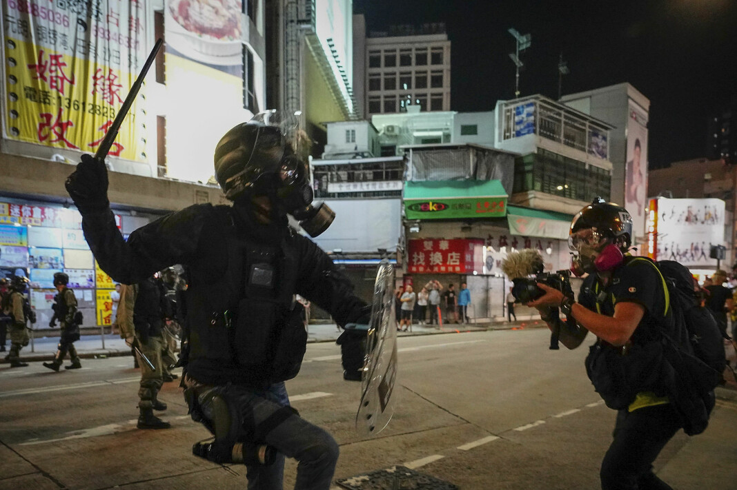 Bildet er fra demonstrasjoner i Hongkong høsten 2019.