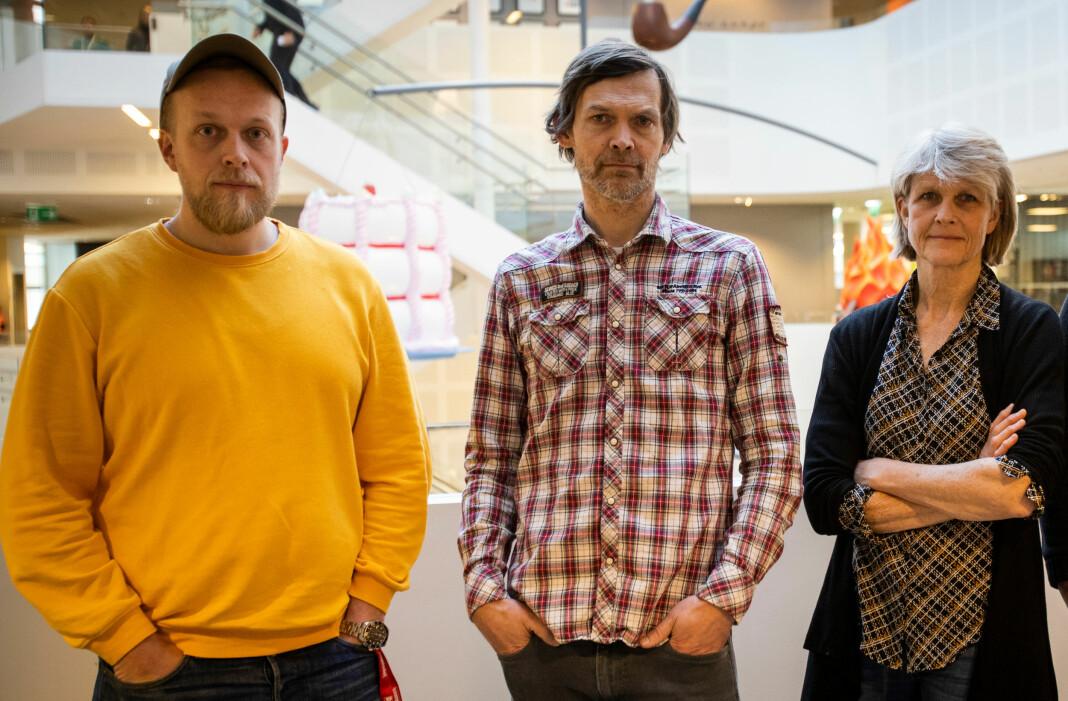 Torgeir Krokfjord (t.v.) og John Rasmussen har vært på graveteamet bak Midtøsten-pengene, med Ola Strømman og Line Fransson (ikke avbildet). Siri Gedde-Dahl har vært reportasjeleder.