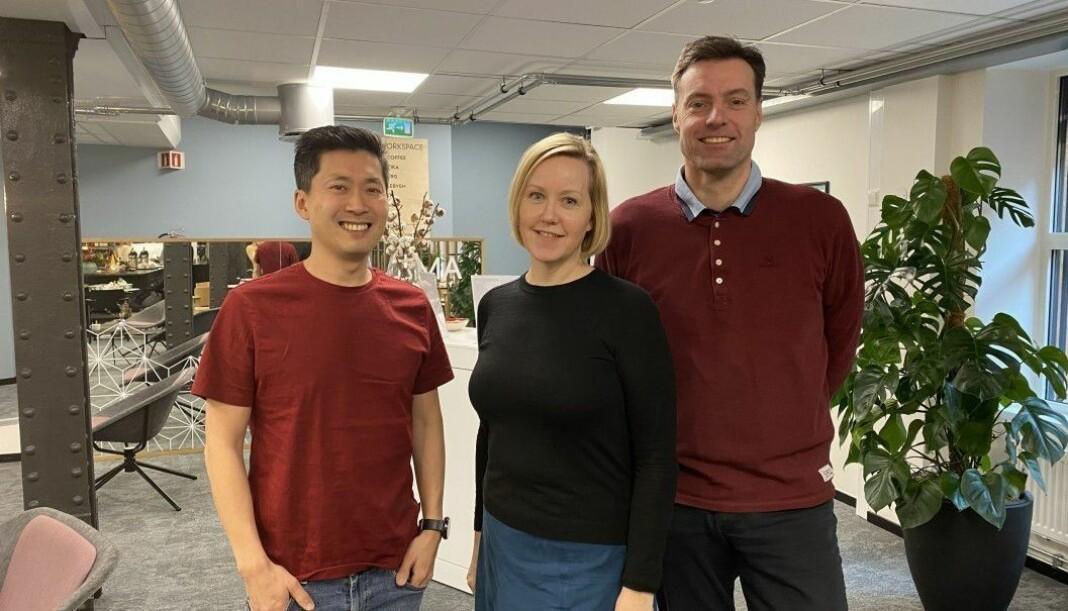 EnerWe-staben. Fra venstre Chul Christian Aamodt, Hilde Nyman og Anders Lie Brenna. Nå får de flere nye kollegaer.