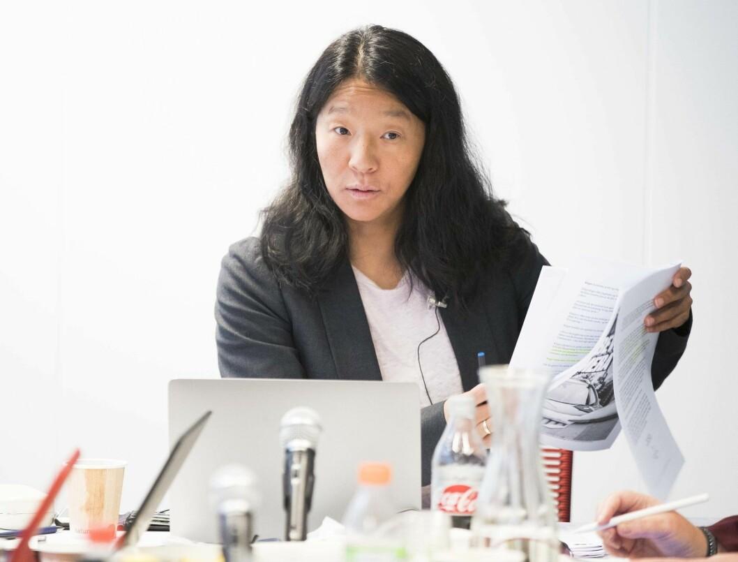 PFU-leder Anne Weider Aasen felte sju medier på det april-møtet.