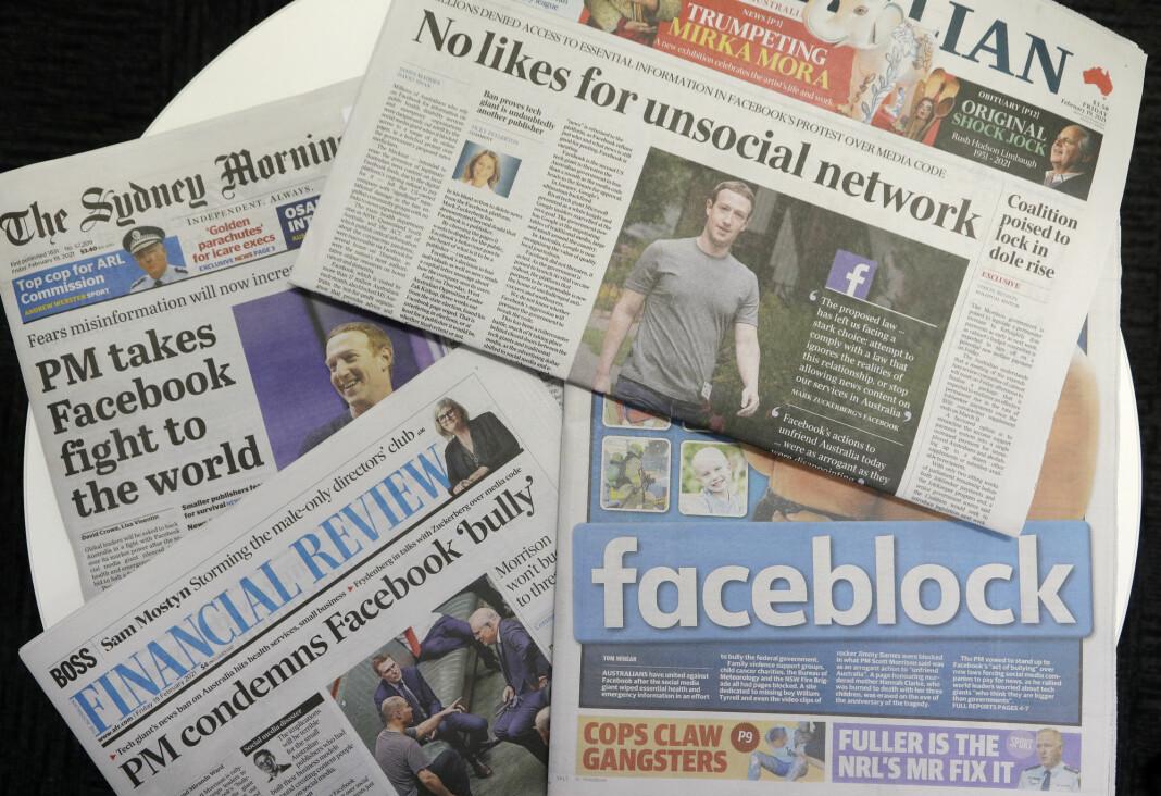 Facebooks reaksjon på lovforslaget i Australia vekker sterkt engasjement.