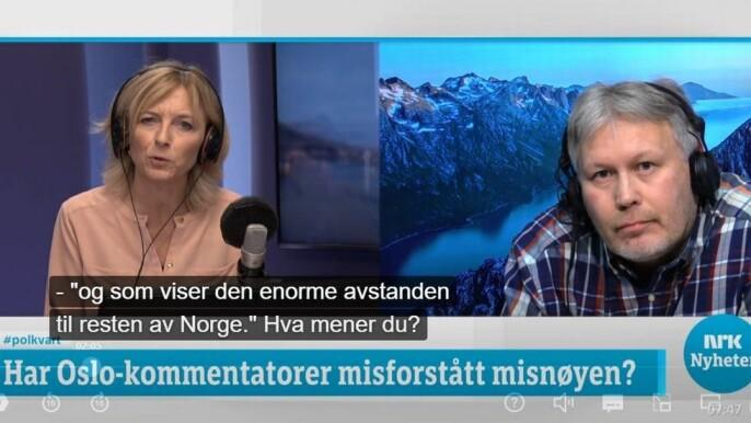 Nordlys-redaktør Skjalg Fjellheim intervjuet av NRK.