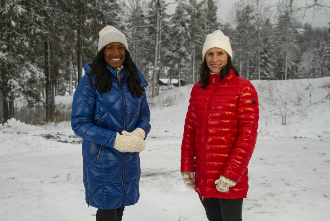 Anker Siri Nilminie Avlesen-Østli og TV 2-ekspert Marit Bjørgen.