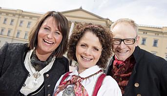 I 2014 ledet Line Andersen NRKs 17. mai-sending sammen med Nadia Hasnaoui og Olav Viksmo Slettan.