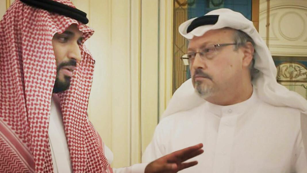 Kronprins Mohammed bin Salman sammen med Jamal Khashoggi. Bildet er hentet fra dokumentaren «The Dissident».