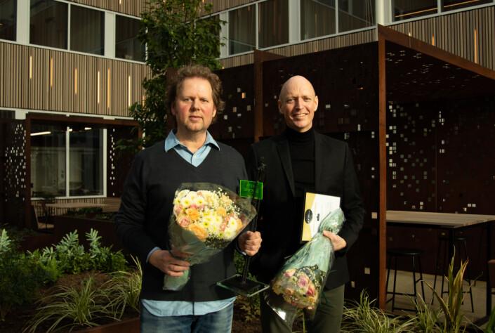 Stavanger Aftenblads Jan Zahl og Anders Minge.