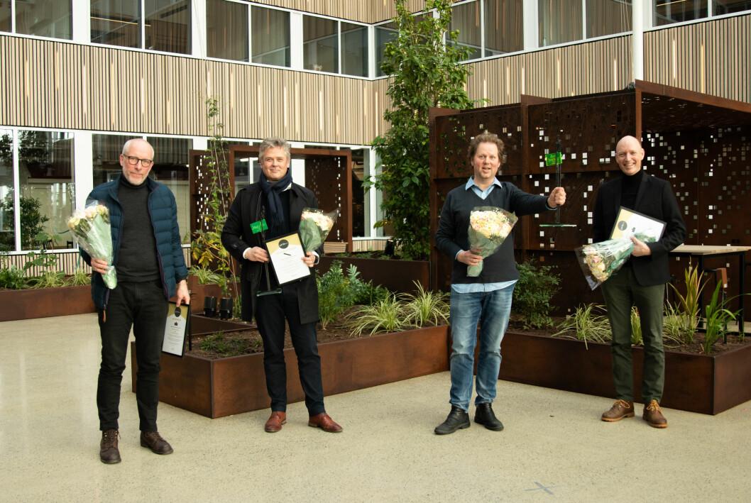 Alle ble de hedret i dag: Jon Ingemundsen, Morten Ånestad, Jan Zahl og Anders Minge.