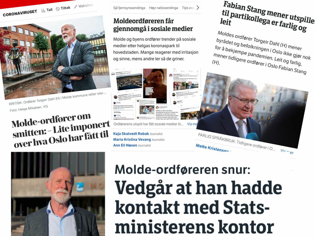 Nyhetssjef Andreas Nielsen i VG sier til NRK at avisa har opptak av intervjuet med Molde-ordfører Torgeir Dahl.