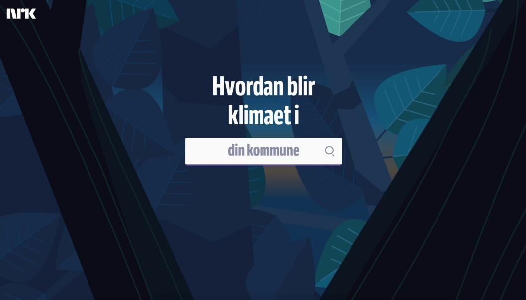– Vi er veldig stolte av klimakommune-prosjektet, og hva vi har fått til på tvers i NRK her, sier Maria Elsness, prosjektleder for digitale historiefortelling.