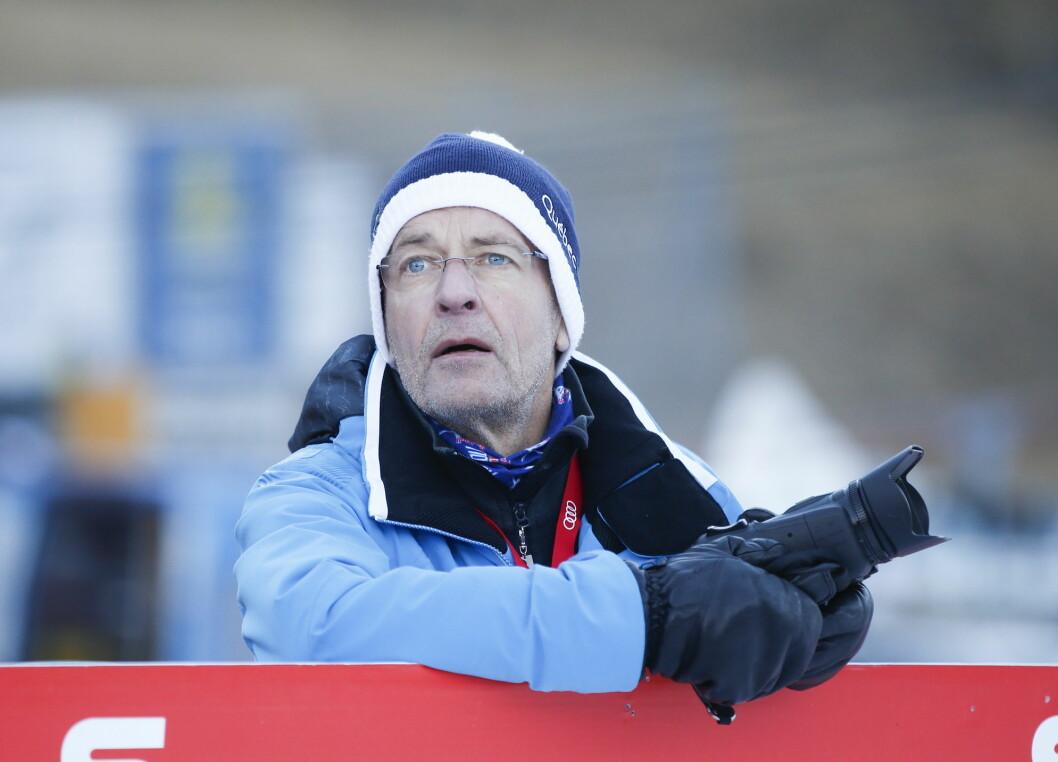 Journalist Ernst A. Lersveen under Tour de Ski i 2016.