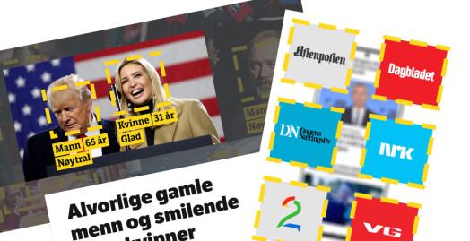 NRK-robot skannet bilder: Fant stor overvekt av menn på norske nyhetsforsider