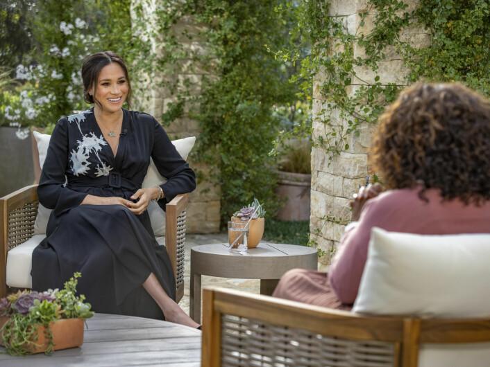 Meghan og Oprah Winfrey hadde en lang samtale før prins Harry sluttet seg til.