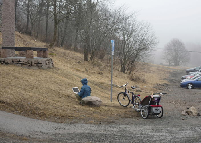 Årets bilde 2020: «Stillstandsrapport». Bilder fra Oslo i den underlige koronatiden. Frognerseteren 5. april.